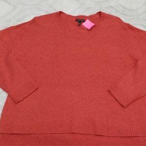 Eileen Fisher orange sweater XL